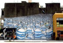 Blu / Artista italiano que libera seres fántasticos en espacios urbanos.