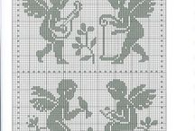 cross stitch: angels