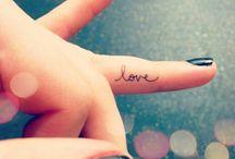 tattoo finger words