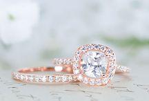 bague de fiancialle or rose et diamant
