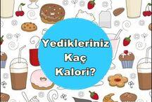Kalori listesi