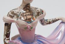 Porzellan -Tattoo