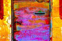 puerta de colores