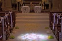Church florals my work / Tuscany wedding church flowers
