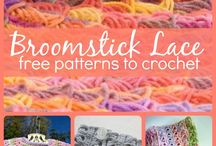 Broomstick knitting
