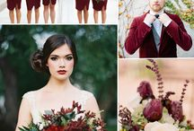 Marsala Wedding / Marsala is the color of this years wedding season.