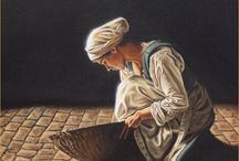 'The Scullery Maid'- 17th Century Girl Painting