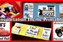 preschool transportation theme