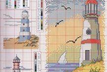 Cross stitch La Mer / sea patterns cross stitch