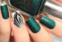 Nail art Tuto tons verts