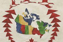 Canada map quilt