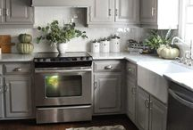 Gray cabinet kitchen