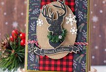 Рождественские открытки ручной работы