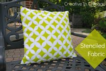stencils / for pillows