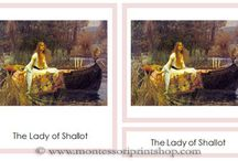 Art Cards / A great variety of printable Art Cards in a 3-part card format.