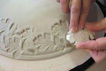 ceramics stamps, reliefs