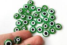 Evil eye jewelry supplies