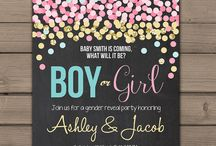 Gender reveal party cesia