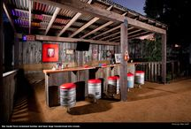 Rustic BBQ areas