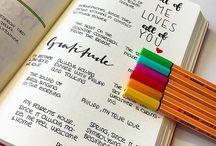 Gratitude bullet journals