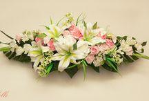 Wedding head table arrangements
