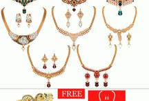 8 Necklace Set With Free 1 Pair Bangles & 3 Pearl Mala Set by Shital Jewellery at Rs. 378