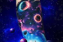 Galaxy/Space Tattoo