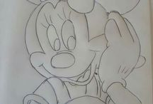 Riscos personagens Disney para pintura em tecido