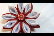 Tutorial: Flores Kansashi. Kansashi flowers. youtube autorstwa Gustamonton