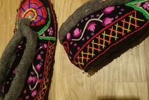 lendacke a iné  ručne vyšívane papuče / ručne ušité a vyšité.....z regionu goralov:))