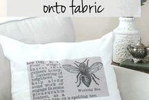 Fabric Paint Dye Print