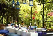 Summer Blues / inspiring ideas for hosting a summer blues party; includes invitations, food and drinks, decor