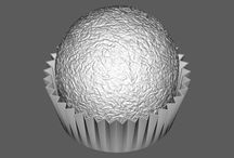 Projects - Ferrero Rocher / We had to reproduce a texture lying on a cylindrical surface, study the industrialization of it and cover a spherical shape – without deformation – with the results of our work. Reverse engineering is one of the Jockoo's main activity. The results of the 3d scanning it's just a base from which to start to sculpt digital shapes through software usually used in the animation or videogame industry.