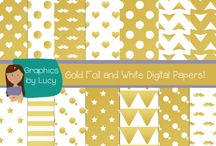 ☆ Digital Papers for TPT Sellers ☆ / Stunning digital papers to make your products 'pop'!
