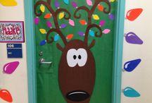 Christmas reindeer door decorations for school