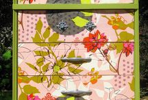 decoupage with fabric