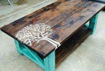 Muebles de madera artesanales