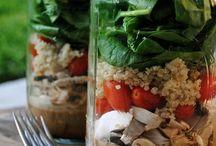 Salad in a jar / Salads