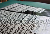 カッティング文字作成行程 / カッティングシール
