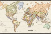 Wall Maps / Maps come in many styles and formats  / by World Maps Online