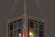 Stained glass lamps, Tiffany