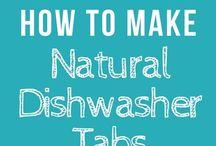 Natural dishwasher tablets