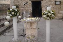 Στολισμός γάμου στην Εκκλησία Παλαιοπαναγιά / Ανθέμιον οργάνωση γάμου, διακοσμήσεις στην εκκλησία με μεγάλα κεριά, λουλούδια και κεριά μπάλα.