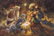 The Nativity. / O Holy night,the stars are brightly shining,It is the night of the Dear Saviours Birth.