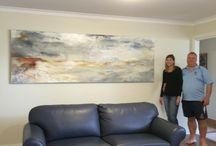 Art in it's new home by Kylie Fogarty Art