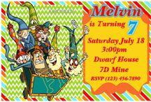 7D Dwarfs Mine Party Birthday Ideas