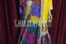Chatapati Gharara / We design all kinds of Chatapati Gharara. Perfect colour combination and intricate handwork is what we strive for.