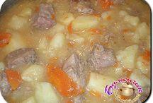 Картофель тушеный со свининой в мультиварке