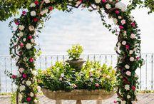 Arco fiorito matrimonio