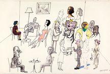 Art - Saul Steinberg / by Carol Farrow